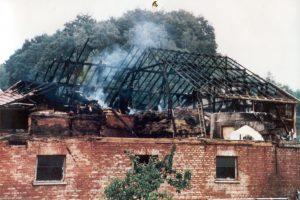 Großbrand der Scheune von Augustin Vieth am 17. August 1979