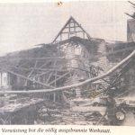 Brand der Werkstatt von Hubert Möller