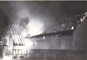 Brand am landwirtschaftlichen Anwesen Hermann Will